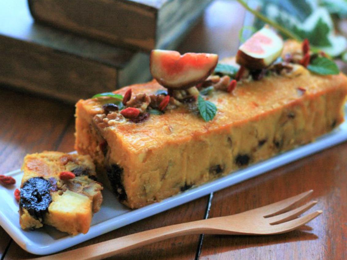 グルテンフリー&砂糖不使用!秋野菜とナッツのシーベリーパウンドのイメージ