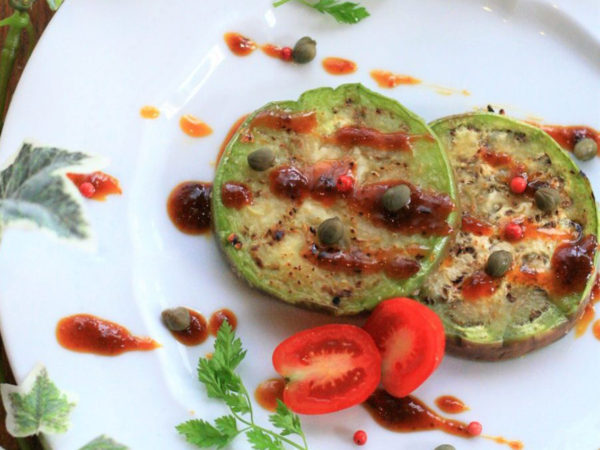 青茄子のステーキ シーベリー味噌ソースのイメージ